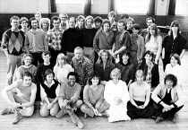 the company, crew and creatives for the 1983 RSC NatWest Tour productions of A MIDSUMMER NIGHT'S DREAM and ROMEO AND JULIET by Shakespeare   including Roger Allam, Penny Downie, Amanda Root, Polly Jam...