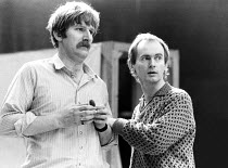 Malcolm Storry (Fleance) with director Howard Davies in rehearsal for MACBETH  by Shakespeare  Royal Shakespeare Company (RSC), Royal Shakespeare Theatre, Stratford-upon-Avon, England  31/03/1982...