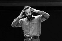 Bob Peck (Macbeth) in rehearsal for MACBETH  by Shakespeare  director: Howard Davies  Royal Shakespeare Company (RSC), Royal Shakespeare Theatre, Stratford-upon-Avon, England  31/03/1982...