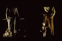 CORIOLAN after Shakespeare director: Robert Lepage  puppets representing soldiers and fightingTheatre Repere / Nottingham Playhouse, Nottingham, England  24/11/1993          (C) Donald Cooper/Photosta...