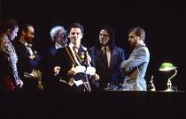 CORIOLAN after Shakespeare director: Robert Lepage  4th left: Jules Philip (Coriolanus)Theatre Repere / Nottingham Playhouse, Nottingham, England  24/11/1993          (C) Donald Cooper/Photostage   ph...
