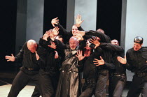 CORIOLANUS  by Shakespeare   design: Patrick Connellan   lighting: Jon Linstrum   director: Steven Berkoff centre: Steven Berkoff (Coriolanus)  West Yorkshire Playhouse (WYP), Leeds, England   17/05/1...