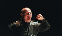 CORIOLANUS  by Shakespeare   design: Patrick Connellan   lighting: Jon Linstrum   director: Steven Berkoff Steven Berkoff (Coriolanus) West Yorkshire Playhouse (WYP), Leeds, England   17/05/1995...