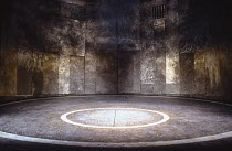 CYMBELINE by Shakespeare  design: Timothy O'Brien  lighting; Mark Henderson  director: Bill Alexander stage,set,empty,stone,circleRoyal Shakespeare Company (RSC), Swan Theatre, Stratford-upon-Avon, En...