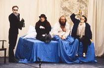DIE LUSTIGEN WEIBER VON WINDSOR ( THE MERRY WIVES OF WINDSOR ) by Shakespeare  set design: Heike Neugebauer  costumes: Uschi Leinhauser Barbel Emde and Company director: Chris Alexander l-r: Christian...