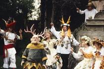 THE MERRY WIVES OF WINDSOR by Shakespeare  design: Sarah Jane McClelland  lighting:  Ian Callander  director: David Conville   front centre: Ronald Fraser (Sir John Falstaff), Dora Bryan (Mistress Qui...