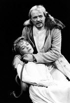KING LEAR by Shakespeare  design: Carl Toms  lighting: Graham Large  director: Frank Dunlop V/iii: Natasha Pyne (Cordelia), James Bolam (King Lear)The Young Vic, London SE1  09/10/1981...