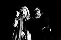 KING LEAR by Shakespeare  design: Richard Hudson  lighting: Paul Pyant  director: Jonathan Miller l-r: Peter Bayliss (Fool), Eric Porter (Lear) The Old Vic, London SE1  28/03/1989...