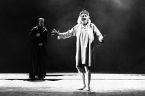KING LEAR by Shakespeare  design: Richard Hudson  lighting: Paul Pyant  director: Jonathan Miller l-r: Peter Eyre (Edgar), Eric Porter (Lear) The Old Vic, London SE1  28/03/1989...