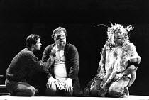KING LEAR by Shakespeare  design: Chris Dyer  lighting: Robert A Jones  director: Cicely Berry  l-r: James Purefoy (Edgar), Desmond Barrit (Earl of Gloucester), Richard Haddon Haines (Lear)Royal Shake...