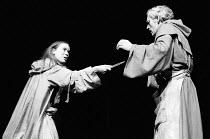 ROMEO AND JULIET by Shakespeare  design: Farrah lighting: John Bradley  director: Terry Hands Estelle Kohler (Juliet), Tony Church (Friar Laurence)Royal Shakespeare Company (RSC), Royal Shakespeare Th...