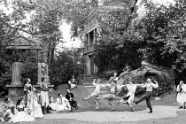 A MIDSUMMER NIGHT'S DREAM by Shakespeare  design: Tim Goodchild  lighting: Ian Callander  director: David Weston   the Mechanicals perform for the Court Open Air Theatre (OAT), Regent's Park, London N...