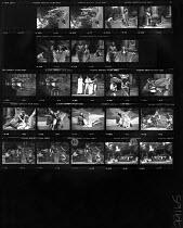 A MIDSUMMER NIGHT'S DREAM by Shakespeare  design: Tim Goodchild  lighting: Ian Callander  director: David Weston   Ian Talbot (Bottom), Lynn Clayton (Titania)  Open Air Theatre (OAT), Regent's Park, L...