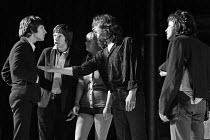 SKYVERS by Barry Reckord  design: Charles Dunlop  director: Pam Brighton  l-r: Billy Hamon (Adams), Mike Grady (Colman), Cheryl Hall (Helen), Jonathan Bergman (Brook), Louis Cabot (Jordan) transfer of...