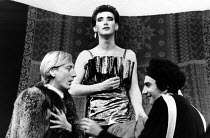 THE MAIDS  by Jean Genet  director: Clare Davidson l-r: John Dicks, Mark Rylance, Raad Rawi  * Lo-res scan for reference only. Hi-res of this and other images available upon request.Lyric Hammersmith...