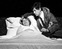 ASHES  by David Rudkin  design: Andrea Montag  lighting: Nick Chelton  director: Ron Daniels ~~Gemma Jones (Anne), Ian McKellen (Colin) ~The Young Vic, London SE1  11/06/1975                      ~(c)...