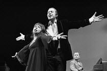 A SENSE OF DETACHMENT  by John Osborne  design: Nadine Baylis  director: Frank Dunlop   l-r: Denise Coffey, John Standing, Hugh Hastings Royal Court Theatre, London SW1  04/12/1972         (c) Donald...