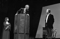 A SENSE OF DETACHMENT  by John Osborne  design: Nadine Baylis  director: Frank Dunlop   l-r: Denise Coffey, Terence Frisby, John Standing Royal Court Theatre, London SW1  04/12/1972         (c) Donald...