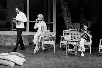 WEST OF SUEZ  by John Osborne  design: John Gunter  director: Anthony Page 2nd left: Jill Bennett (Frederica)  right: Geoffrey Palmer (Edward)Royal Court Theatre, London SW1  17/08/1971        (c) Don...