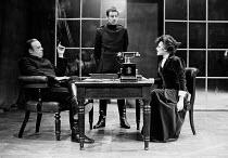 A PATRIOT FOR ME  by John Osborne  director: Stephen Hollis ~~left: John Savident  right: Marianne Faithfull (Countess Sophia Delyanoff) ~Watford Palace Theatre, Watford, England  28/11/1973...