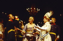 A PATRIOT FOR ME  by John Osborne  set design: Tom Piper  costumes: Pamela Howard  lighting: Andy Phillips  director: Peter Gill ~~left: James Wilby (Alfred Redl)  right: Denis Quilley (Baron von Epp)...