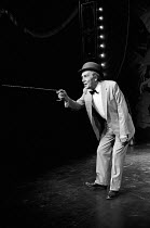 THE ENTERTAINER  by John Osborne  design: Tony Abbott & Don Taylor  lighting: Nick Chelton  director: John Osborne  Max Wall (Archie Rice) Greenwich Theatre, London SE10  28/11/1974(c) Donald Cooper/P...
