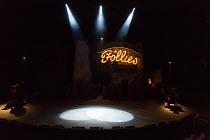 FOLLIES  music & lyrics by Stephen Sondheim book: James Goldman  design: Vicki Mortimer lighting: Paule Constable  choreography: Bill Deamer  director: Dominic Cooke   stage,full,empty,set,neon,spotli...