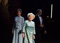 l-r: Janie Dee (Phyllis Rogers Stone), Imelda Staunton (Sally Durant Plummer), Philip Quast (Benjamin Stone) in Stephen Sondheim's FOLLIES opening at the Olivier Theatre, National Theatre, London SE1...