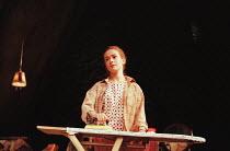 LOOK BACK IN ANGER  by John Osborne  design: Robert Jones  lighting: Howard Harrison  director: Gregory Hersov   Emma Fielding (Alison Porter)  Lyttelton Theatre, National Theatre (NT), London SE1...