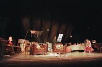 LOOK BACK IN ANGER  by John Osborne  design: Robert Jones  lighting: Howard Harrison  director: Gregory Hersov   Michael Sheen (Jimmy Porter), Emma Fielding (Alison Porter)  Lyttelton Theatre, Natio...