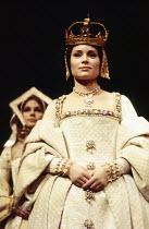 HENRY VIII  by Shakespeare  design: John Bury  lighting: John Bradley  director: Trevor Nunn   Lisa Harrow (Anne Bullen)  Royal Shakespeare Company (RSC), Aldwych Theatre, London WC2  17/12/1970...
