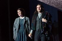 Nicole Car (Mimi), Michael Fabiano (Rodolfo) in LA BOHEME by Puccini opening at The Royal Opera, London WC2 on 11/09/2017 conductor: Antonio Pappano  design: Stewart Laing  lighting: Mimi Jordan Sheri...