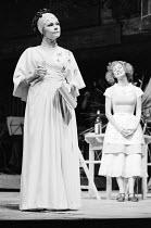 THE COMEDY OF ERRORS by Shakespeare  design: John Napier  lighting: Clive Morris  musical staging: Gillian Lynne  director: Trevor Nunn ~l-r: Judi Dench (Adriana), Francesca Annis (Luciana)Royal Shake...