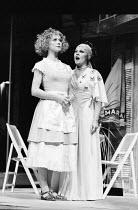 THE COMEDY OF ERRORS by Shakespeare  design: John Napier  lighting: Clive Morris  musical staging: Gillian Lynne  director: Trevor Nunn ~l-r: Francesca Annis (Luciana), Judi Dench (Adriana) Royal Shak...