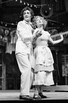 THE COMEDY OF ERRORS by Shakespeare  design: John Napier  lighting: Clive Morris  musical staging: Gillian Lynne  director: Trevor Nunn ~Roger Rees (Antipholus Syracuse), Francesca Annis (Luciana)Roya...