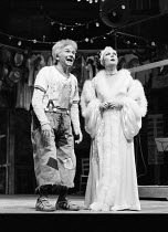 THE COMEDY OF ERRORS by Shakespeare  design: John Napier  lighting: Clive Morris  musical staging: Gillian Lynne  director: Trevor Nunn ~Michael Williams (Dromio of Syracuse), Judi Dench (Adriana)Roya...