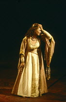 ANTONY AND CLEOPATRA by Shakespeare set design: Alison Chitty lighting: Stephen Wentworth director: Peter Hall ~ ~Judi Dench (Cleopatra) ~Olivier Theatre, National Theatre (NT), London SE1  09/04/1987...