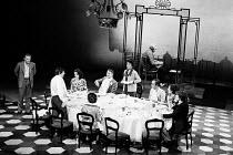 SATURDAY, SUNDAY, MONDAY by Eduardo di Filippo  adapted by Keith Waterhouse  set design & director: Franco Zeffirelli  costumes: Raimonda Gaetani  lighting: Leonard Tucker    left: Frank Finlay (Pep...