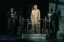 on trial: Alexandra Gilbreath (Hermione) in THE WINTER'S TALE by Shakespeare presented by the Royal Shakespeare Company (RSC) at the Royal Shakespeare Theatre Stratford-upon-Avon, England on 06/01/199...