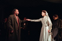 Antony Sher (Leontes), Alexandra Gilbreath (Hermione) in THE WINTER'S TALE by Shakespeare presented by the Royal Shakespeare Company (RSC) at the Royal Shakespeare Theatre Stratford-upon-Avon, England...