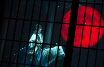 Masachika Ichimura (Macbeth) in MACBETH by Shakespeare opening at the Barbican Theatre, London EC2 on 05/10/2017  Ninagawa Theatre Company, Tokyo, Japan  set design: Kappa Senoh costumes: Jusaburo Tsu...