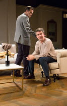 l-r: Tony Gardner (Michel), Alexander Hanson (Paul) in THE LIE by Florian Zeller opening at the Menier Chocolate Factory Theatre, London SE1 on 08/10/2017   in a translation by Christopher Hampton  se...