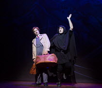 l-r: Hadley Fraser (Frederick Frankenstein), Ross Noble (Igor) in YOUNG FRANKENSTEIN by Mel Brooks opening at the Garrick Theatre, London WC2 on 10/10/2017 book, music & lyrics by Mel Brooks  set desi...