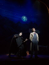 l-r: Ross Noble (Igor), Hadley Fraser (Frederick Frankenstein) in YOUNG FRANKENSTEIN by Mel Brooks opening at the Garrick Theatre, London WC2 on 10/10/2017 book, music & lyrics by Mel Brooks  set desi...