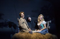 l-r: Hadley Fraser (Frederick Frankenstein), Ross Noble (Igor), Summer Strallen (Inga) in YOUNG FRANKENSTEIN by Mel Brooks opening at the Garrick Theatre, London WC2 on 10/10/2017 book, music & lyrics...