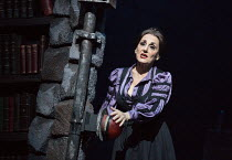 Lesley Joseph (Frau Blucher) in YOUNG FRANKENSTEIN by Mel Brooks opening at the Garrick Theatre, London WC2 on 10/10/2017 book, music & lyrics by Mel Brooks  set design: Beowulf Boritt  costumes: Will...
