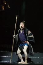 Kenichi Ishii (Porter) in MACBETH by Shakespeare opening at the Barbican Theatre, London EC2 on 05/10/2017 Ninagawa Theatre Company, Tokyo, Japan  set design: Kappa Senoh  costumes: Jusaburo Tsujimura...