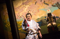 Kazunaga Tsuji (Banquo) in MACBETH by Shakespeare opening at the Barbican Theatre, London EC2 on 05/10/2017 Ninagawa Theatre Company, Tokyo, Japan  set design: Kappa Senoh costumes: Jusaburo Tsujimura...