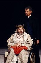 KING LEAR   by Shakespeare   design: Hildegard Bechtler   lighting: Jean Kalman   director: Deborah Warner ~~l-r: Brian Cox (King Lear), Ian McKellen (Earl of Kent) ~Lyttelton Theatre, National Theatr...