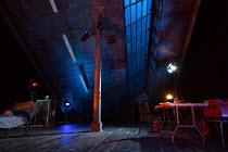 VENUS IN FUR  by David Ives  design: Rob Howell  lighting: Hugh Vanstone  director: Patrick Marber   stage,set,empty Theatre Royal Haymarket (TRH), London SW1  17/10/2017                (c) Donald Coo...